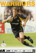 Worcester Warriors v SARACENS  17 Sep 2005 RUGBY PROGRAMME