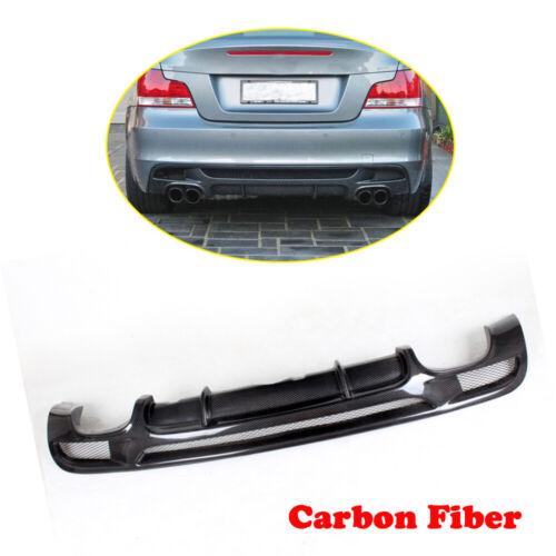 Carbon Rear Diffuser Lip Dual Outlet for BMW E82 E88 125i 135i M Sport 07-13