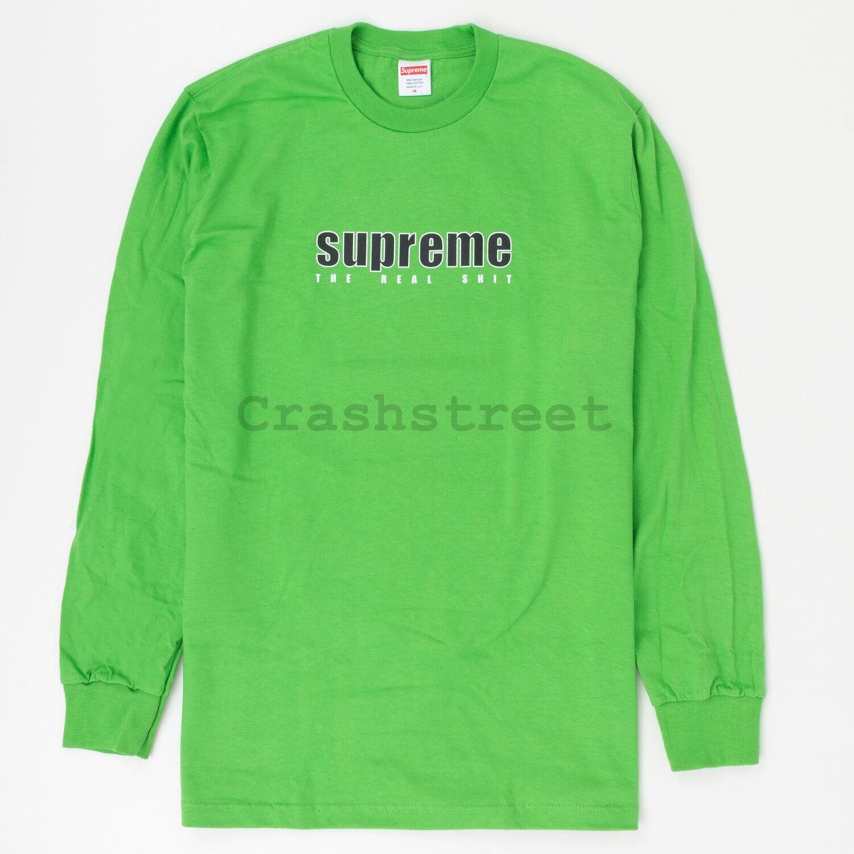 Supreme SS19 The Real Sht L S Tee box camp logo cap sweatshirt hoodie Green