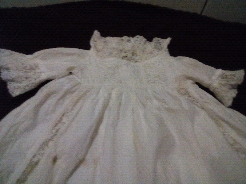 d48f772eae66 Antique Long Baby Christening Gown and baby cap - Victorian era ...