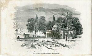 Engraving-Late-Residence-Of-Thomas-Jefferson-Monticello-VA
