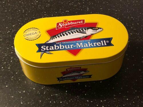 "Nice large metal lunch//sandwich box Norwegian Stabburet /""Makrell i tomat/"""