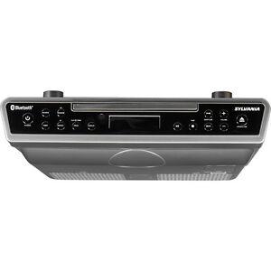 sylvania bluetooth under cabinet cd player clock radio with aux in rh ebay com under cabinet cd player radio with light under cabinet tv radio cd player