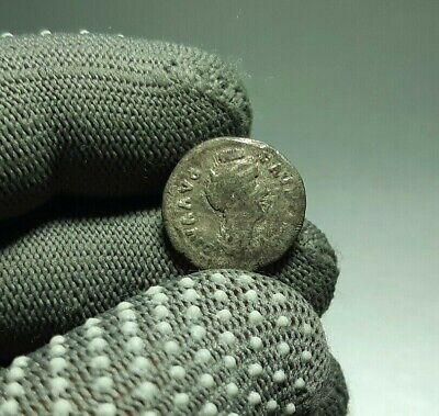 #0275 Uncleaned Antique Roman Silver coin Denarius DIVA FAUSTINA SR 138-141 AD