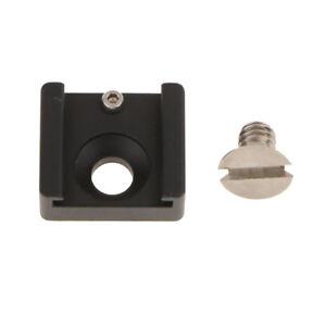 Hot-Shoe-Mount-Adapter-Bracket-Standard-with-1-4-034-Thread-for-DSLR-SLR-Camera