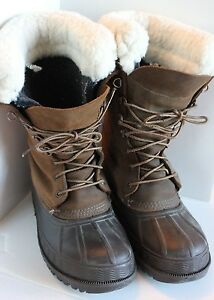 5d8f2caa98a Details about Vintage LaCrosse Winter Boots Men's Unisex Size ? Sheep Skin  Fleece lined