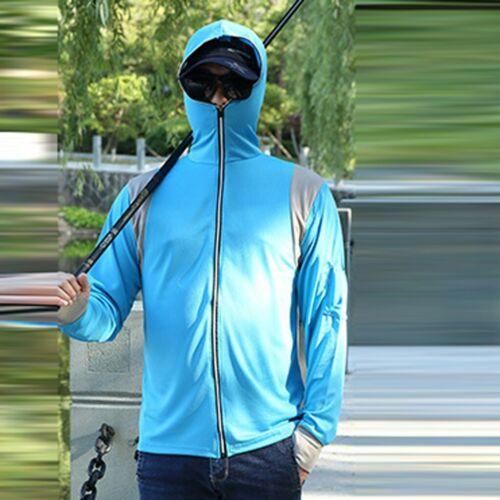 Mens Long Sleeves Tops Hoodie Sweatshirts Fishing Suit Zipper Hoodie  Blouse