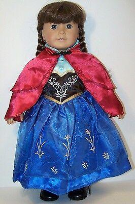 halloween frozen princess anna costume doll clothes for 18 american girl - Halloween Anna Costume
