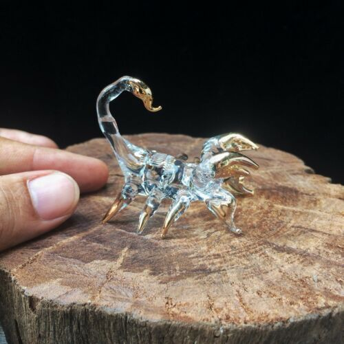 New Scorpion Hand Blown Glass Figurine Collectibles Zodiac Art Decor Charm Gift