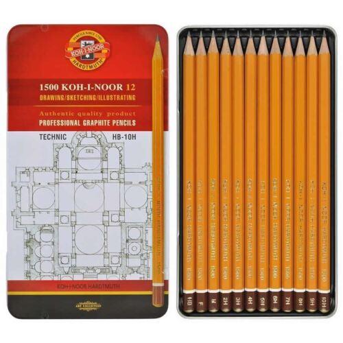 Koh-I-Noor TECHNIC Graphite Pencils 1502 Pack of 12