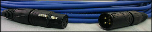 UpScale Mogami W2534 Balanced XLR-M to XLR-F Microphone Cable Blue 100FT