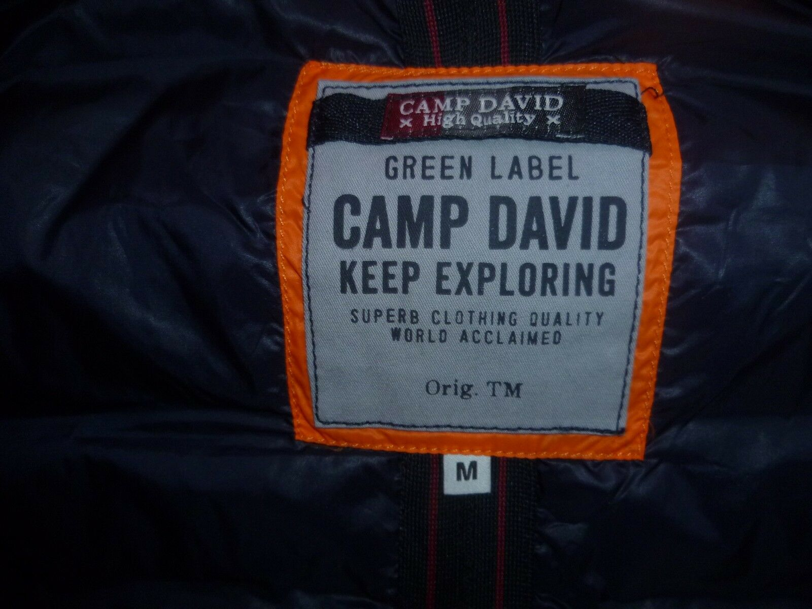 TOP NEU Herren Männer Outdoor Weste Steppweste mit Kapuze Kapuze Kapuze Orange CAMP DAVID Gr.M ecc6c6