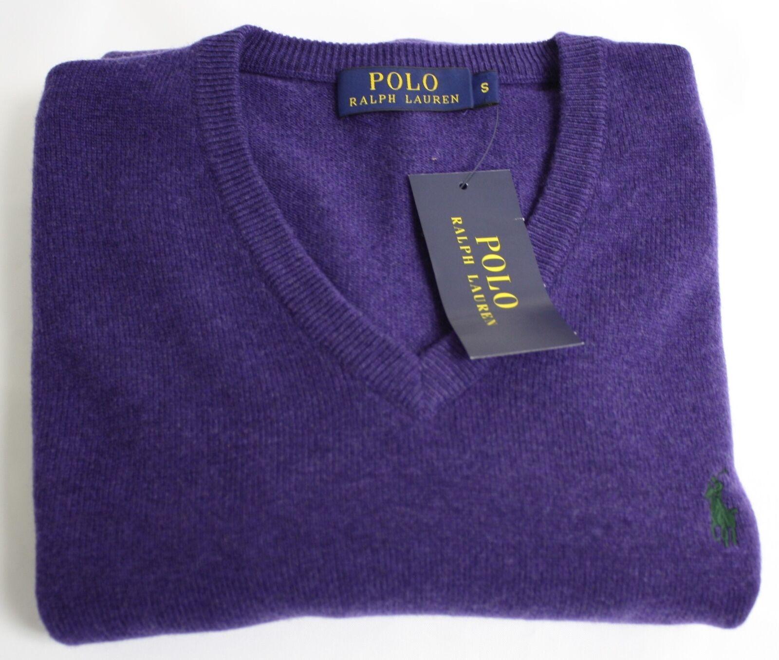 Polo Polo Polo Ralph Lauren Maglione Viola Lana Scollo a V Pony Logo Ret 125 ea5b81