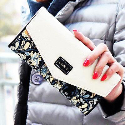 Women Lady Leather Clutch Wallet Long PU Card Holder Purse Handbag