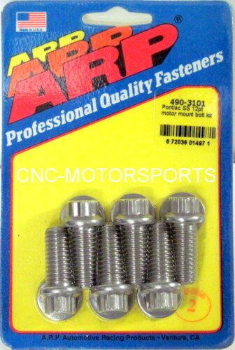 ARP MOTOR MOUNT BOLT KIT 490-3101 PONTIAC ALL V8 STAINLESS 300 12 POINT HEAD