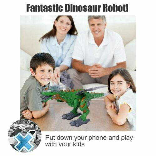 Toys for Boys Age 4 5 6 7 8 9 10 11 Year Old Kids Walking Dinosaur Robot  Lights