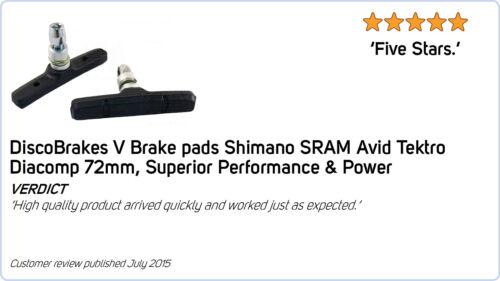 Shimano 4 Pairs 3xPerformance Ceramic Rim V Brake Pads for 72mm Cartridge Shoes