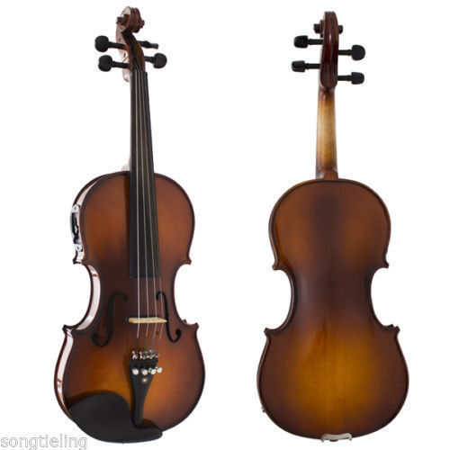 Solid wood professional 4 strings electric & acoustic violin 4 4