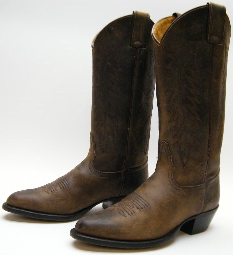 WOMENS TONY LAMA 2609 BROWN OILED LEATHER COWBOY WESTERN BOOTS SZ 6 B 6B