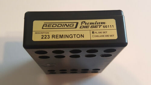 BRAND NEW 223 REMINGTON 66111 REDDING 2-DIE PREMIUM FULL LENGTH DIE SET