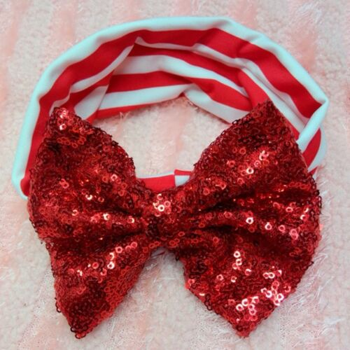 Baby Infant Girls Hair Band Sequined Bow Headband Turban Knot Hair Accessories H
