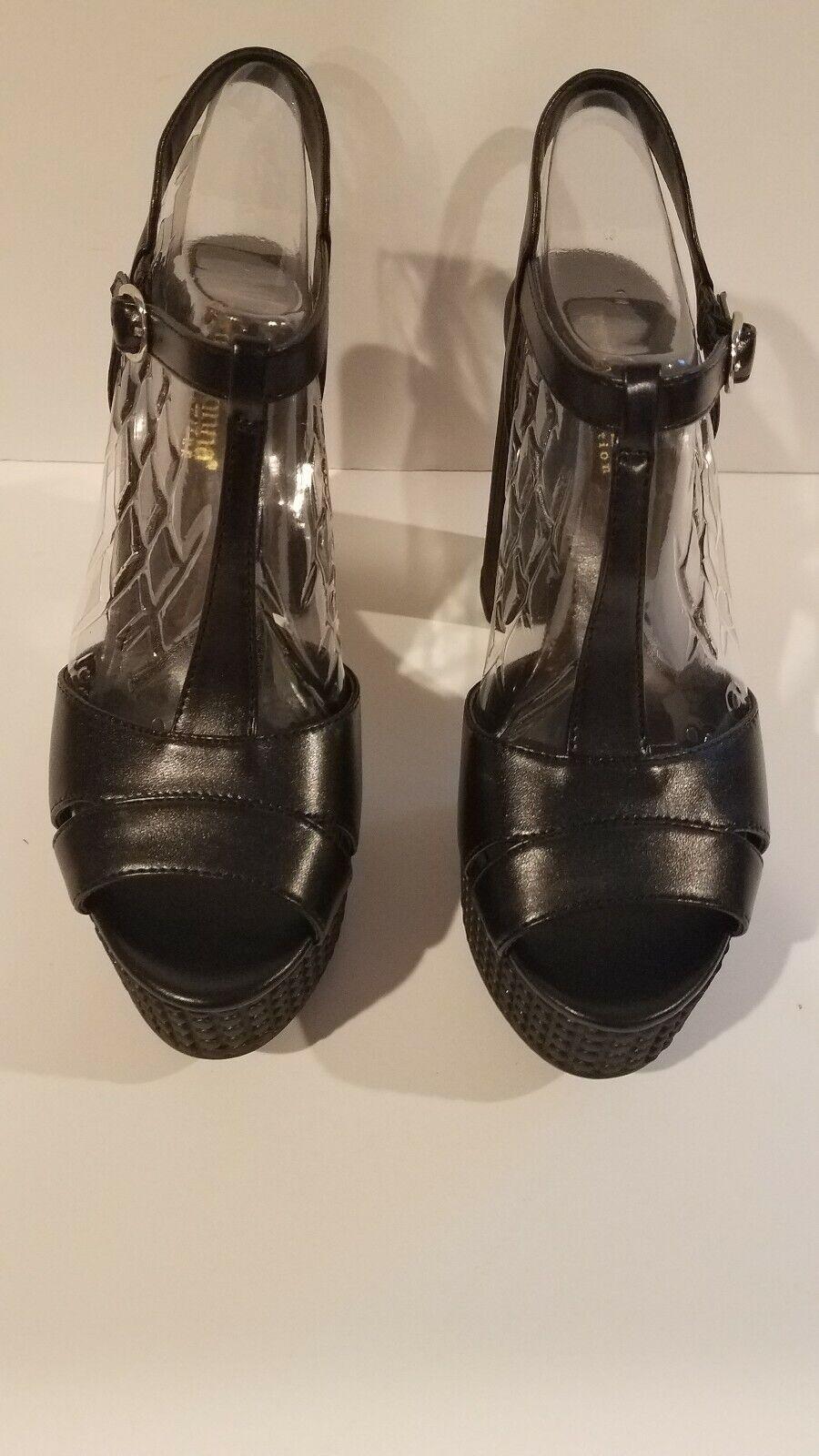 Primamujer colección colección colección euro para mujer Talla 39 EE. UU. Talla 8.5 Negro Nuevo Caja 7e225f