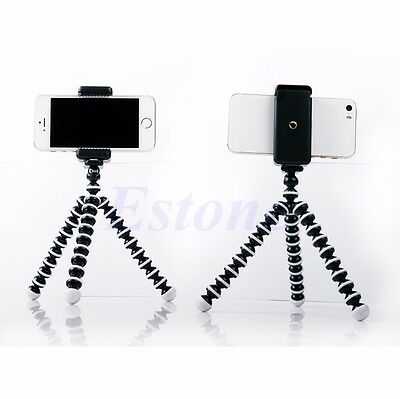For iPhone 6 HTC Universal Tripod Monopod Stand Mount Selfie Clip Bracket Holder