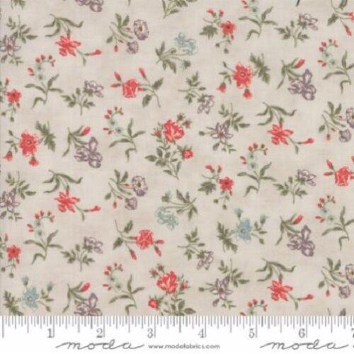 44154-11 Moda De Retazos Tela Pluma Pergamino Floral