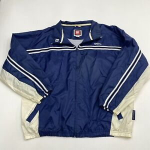 Wilson Windbreaker Jacket Men's Large Long Sleeve Zip Up Nylon Polyester Blend