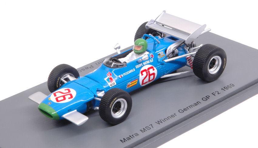 Matra MS7  H.Pesvoitureolo 1969  26 Winner Gerhomme GP F2 1 43 Model S4290 SPARK MODEL  offres de vente