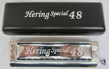 Hering 8148 Richter Tuned Chromatic Harmonica 48 C Acrylic Comb-Round Mouthpiece