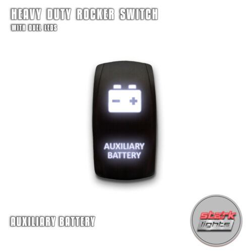 Laser 5 Pin LED Rocker Switch Dual Light 20A 12V ON OFF B AUXILIARY-BATTERY