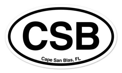 "CSB Cape San Blas FL Florida Oval car window bumper sticker decal 5/"" x 3/"""