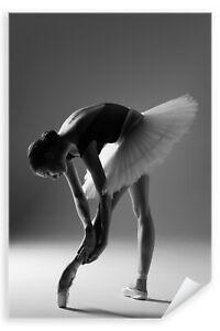 Postereck-Poster-1270-Ballerina-Tutu-Ballett-Spitzschuh-Sport-Tanz-Frau-SW