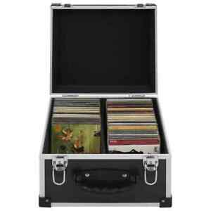 vidaXL CD Case for 40 CDs Aluminium ABS Black Storage DISC Box Record Holder