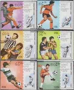 Laos-1135-1140-kompl-Ausg-postfrisch-1989-Fussball-WM-1990-in-Italien