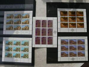 Lot-de-5-blocs-EUROPA-de-Yougoslavie-neufs-luxes-sans-trace-de-charniere-TTB