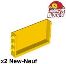 Lego - 2x Panel Panneau 1x6x3 Studs on Sides jaune/yellow 98280 NEUF