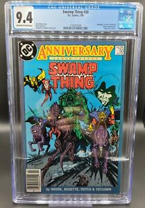 Swamp-Thing-50-CGC-9-4-1st-App-Justice-League-Dark-1986-DC-Comics-NEWSSTAND
