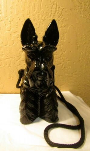 TIMMY WOODS SCOTTISH TERRIER BLACK DOG PURSE RARE