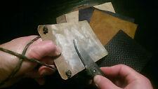 Carbon fibre leather ultralight strop paddle knife sharpener bushcraft paracord
