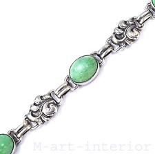 Art Déco Silber Aventurin Armband • Danish Silver Aventurine Bracelet 1930s