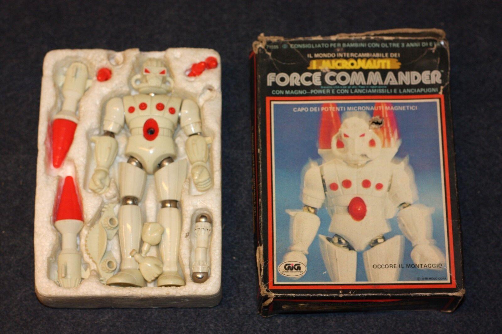 MICRONAUTI MICRONAUTS  ROBOT FORCE COMMANDER - MEGO GIG - COMPLETO - FL - G9