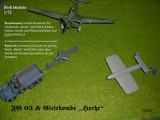 "FG03 & Gleitbombe ""Hecht""      1/72 Bird Models Resinbausatz / resin kit"