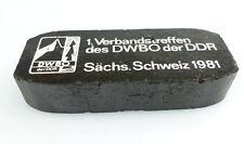 #e2857 DDR (Zier-) Kohlebrikett 1. Verbandstreffen des DWBO der DDR 1981