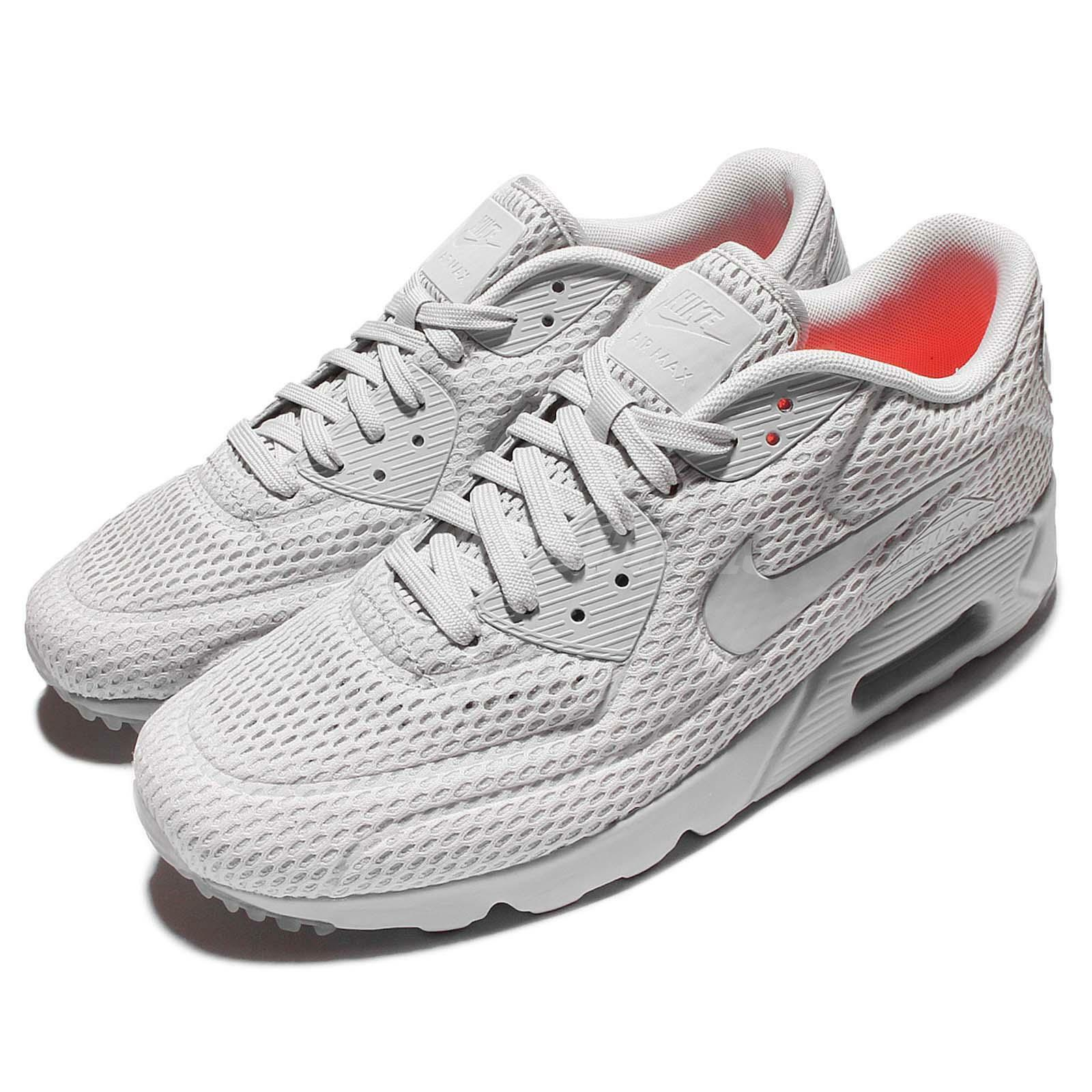 buy popular 2da95 11121 Nike Air Max 90 Ultra BR Breeze Pure Platinum Mens Running Trainers 725222- 012 well