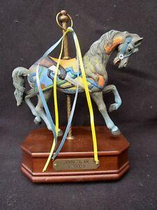 Details about IMPULSE GIFTWARE JOHN ZALAR C 1900's Porcelain Carousel  Musical Horse