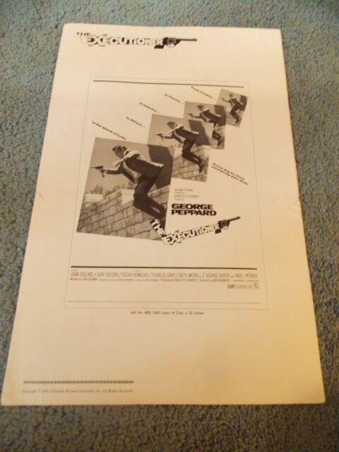 THE EXECUTIONER(1970)GEORGE PEPPARD ORIGINAL PRESSBOOK