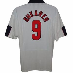 1997-1998 England Home Football Shirt Shearer #9 Umbro XL (Excellent Condition)