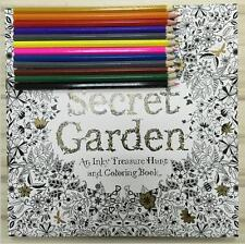 Item 2 Secret Garden An Inky Treasure Hunt And Coloring Book Child Adults Free Pencil